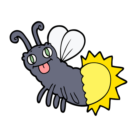 cartoon firefly illustration design.