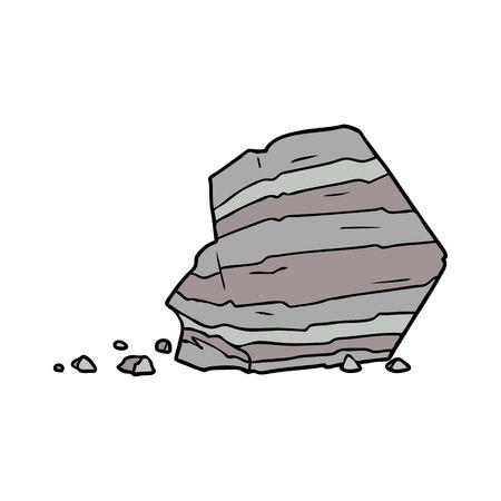 Cartoon große Rock Illustration Design Standard-Bild - 94932315