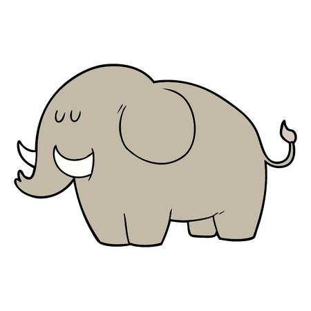 Ilustração do vetor do elefante dos desenhos animados. Foto de archivo - 94931723