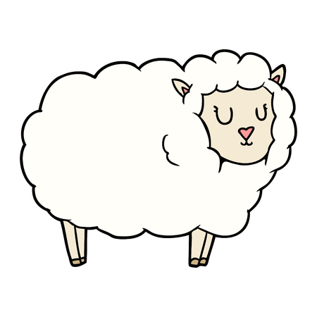 cartoon sheep illustration design. 向量圖像