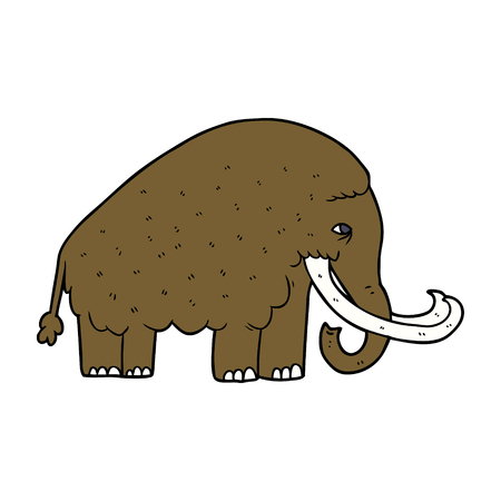 漫画マンモスイラストデザイン。