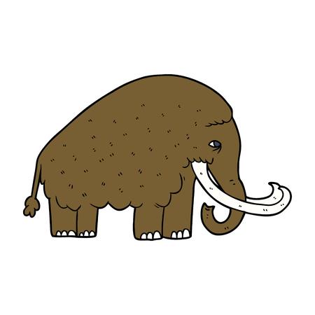 Projeto da ilustração do mamute dos desenhos animados. Foto de archivo - 94932338