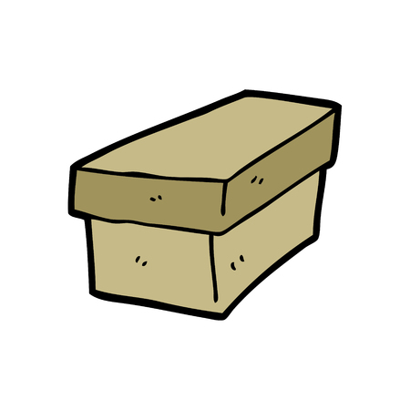 cartoon cardboard box Ilustrace