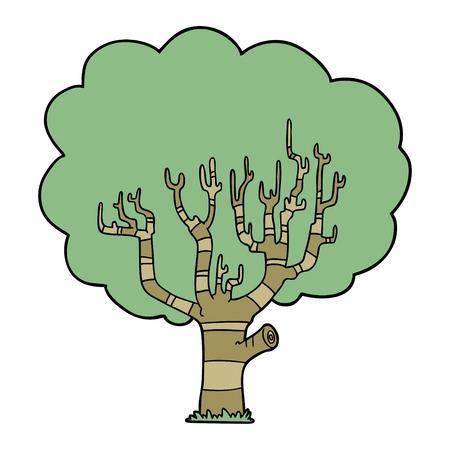 漫画の木ベクトルイラスト。  イラスト・ベクター素材