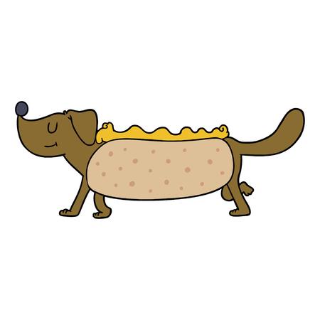 cartoon hotdog illustration design.
