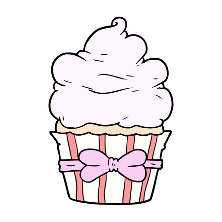 Cartoon Fancy Cupcake Standard-Bild - 94932370