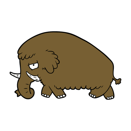 cartoon mammoth illustration design. Stok Fotoğraf - 94932387