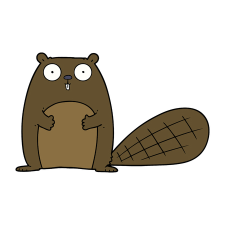 cartoon beaver illustration design. Ilustracja