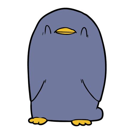 cartoon penguin Vector illustration.