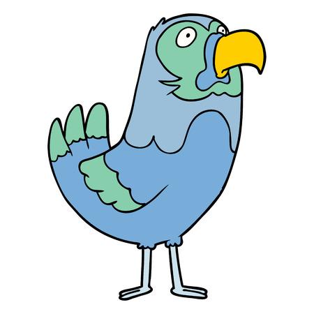 cartoon parrot Vector illustration. Illustration