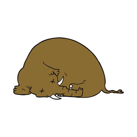 Mamute morto dos desenhos animados Foto de archivo - 94932411