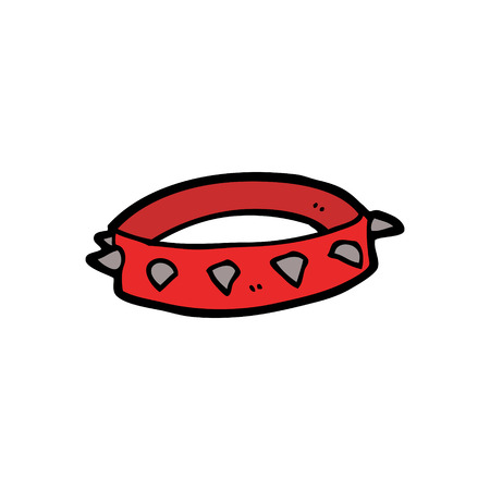 cartoon spiked dog collar
