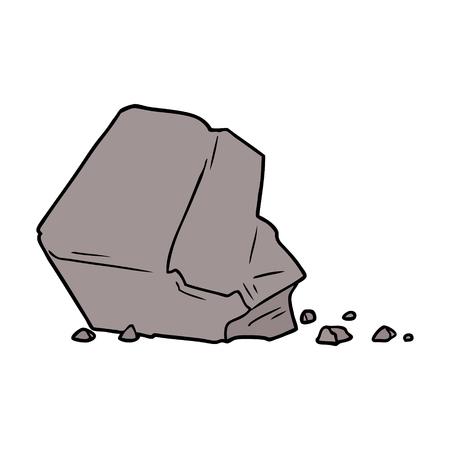 cartoon large rock