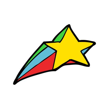 shooting star decorative cartoon 向量圖像
