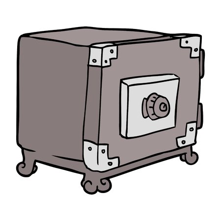 cartoon traditional safe