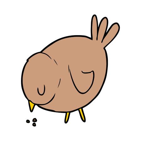 cartoon pecking bird Stock Vector - 94932081