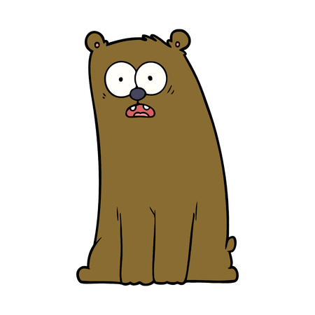 cartoon surprised bear