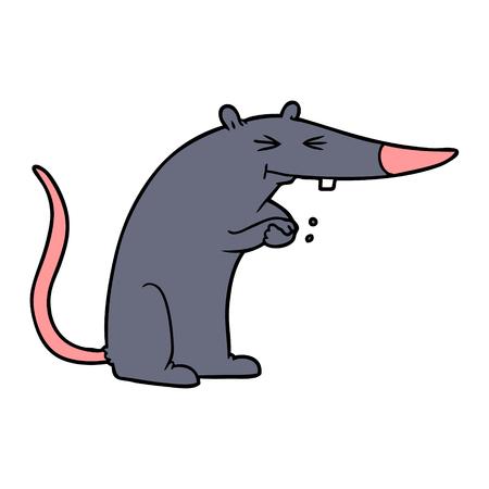 cartoon sneaky rat Stock Vector - 94932130