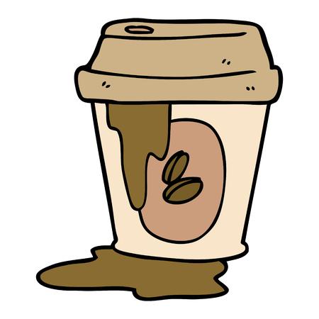 rommelige koffiekopje cartoon