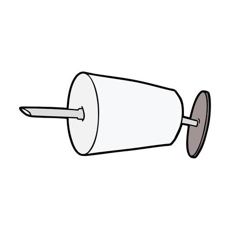 cartoon medical syringe Ilustracja
