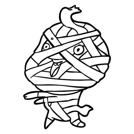 かわいい漫画ハロウィーンのミイラ  イラスト・ベクター素材