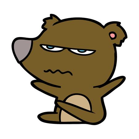 Wütender Bär Cartoon Standard-Bild - 94937242