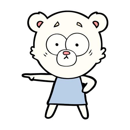nerveuze ijsbeer cartoon Stock Illustratie