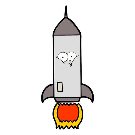 ●漫画ロケットイラストデザイン。