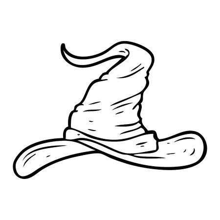 cartoon tovenaars hoed