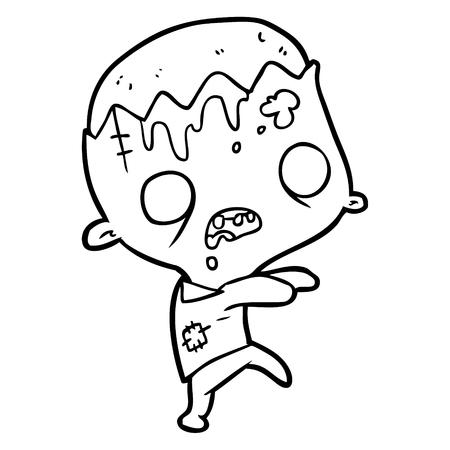 Zumbi bonito dos desenhos animados Foto de archivo - 94937430