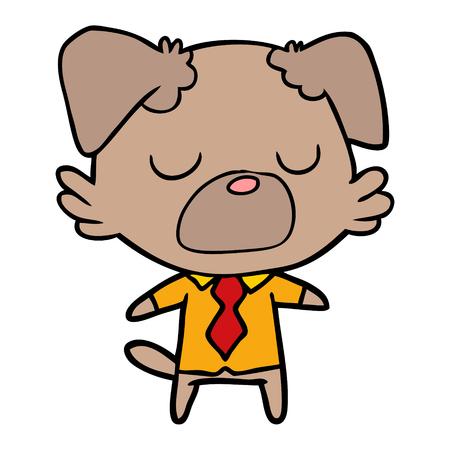 cartoon dog manager Vector illustration. Illustration