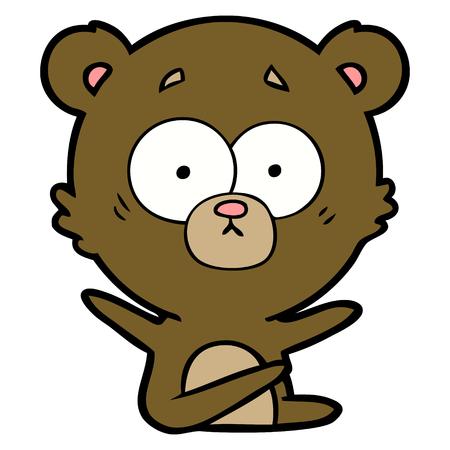 surprised bear cartoon Stockfoto - 94937449