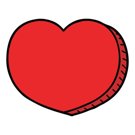 Cuore d'amore dei cartoni animati Archivio Fotografico - 94937460
