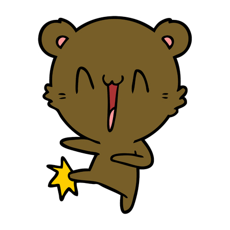 행복 곰 발 차기