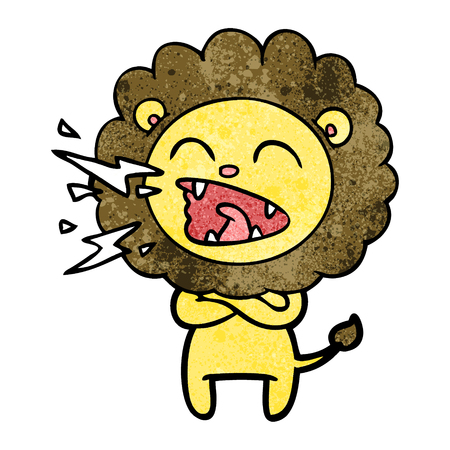 cartoon roaring lion