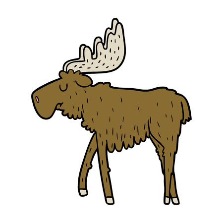 cartoon moose illustration design.