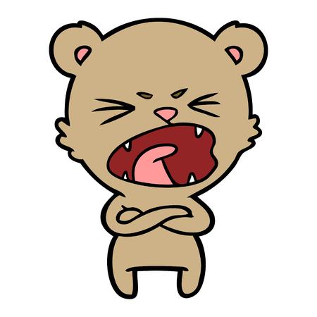 angry cartoon bear shouting