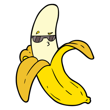 cartoon banana illustration design.