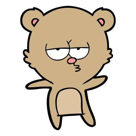 지루한 곰 만화 스톡 콘텐츠 - 94937799