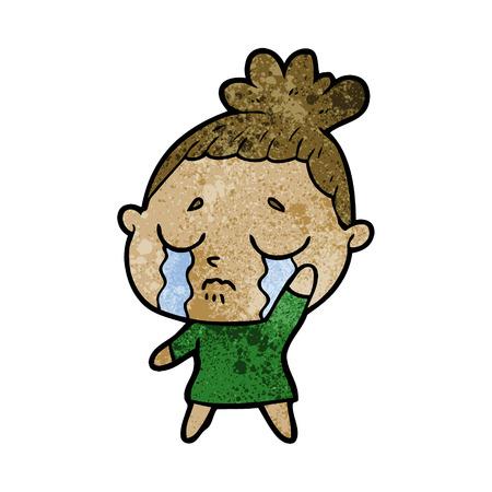 Cartoon weinende Frau Standard-Bild - 94940428