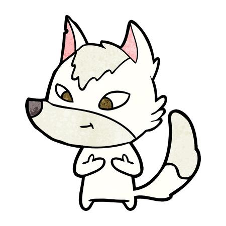 vriendelijke cartoon wolf
