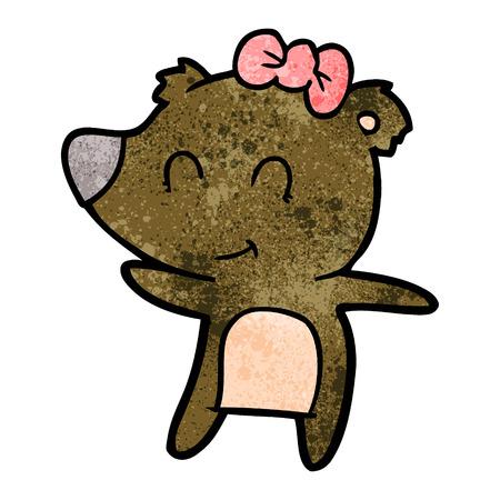 Cartone animato orso femmina Archivio Fotografico - 94940560