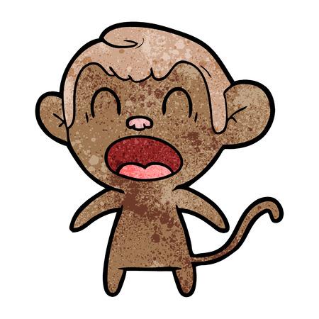 shouting cartoon monkey Stok Fotoğraf - 94940900