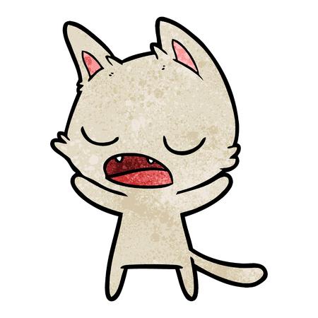 Sprechen Sie die Katze Standard-Bild - 94940964