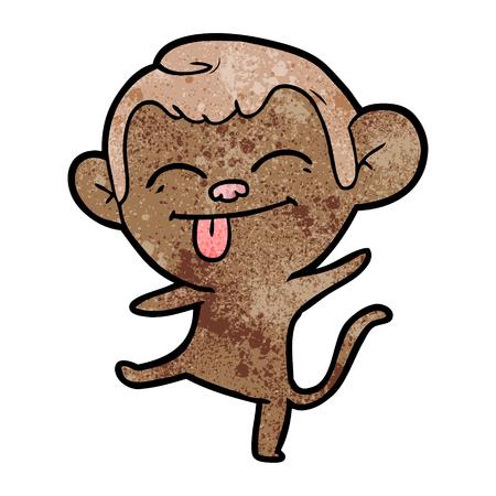 funny cartoon monkey dancing