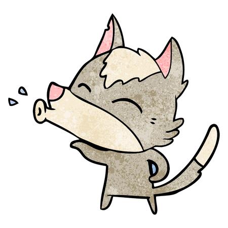 Cartone animato lupo che ulula Archivio Fotografico - 94941947