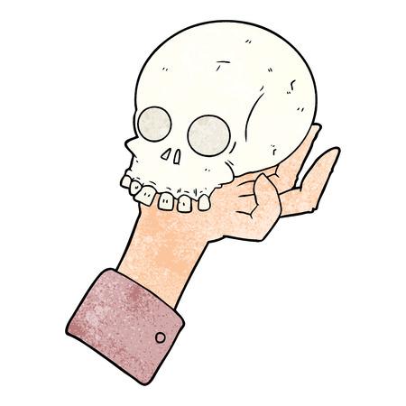 만화 손을 잡고 두개골