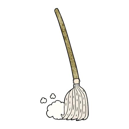 漫画のほうき掃除