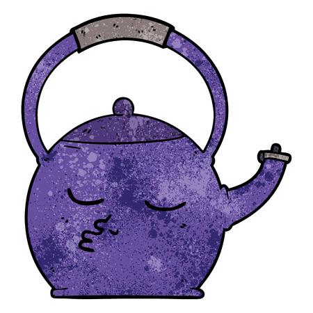 cartoon kettle illustration design.