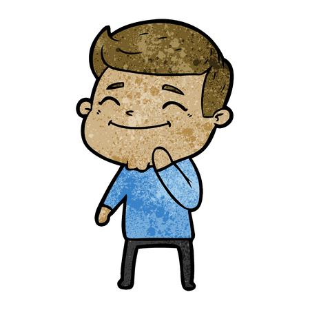happy cartoon man Ilustração